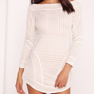 Missguided Lace Bodycon Dress
